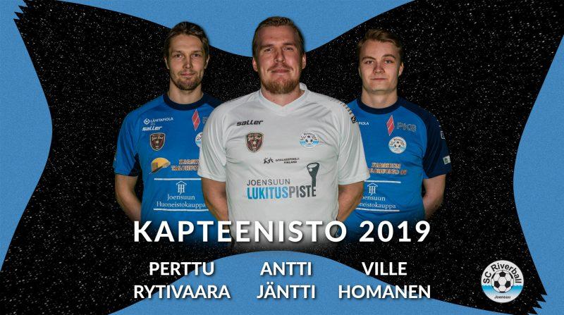 Kapteenisto kaudelle 2019